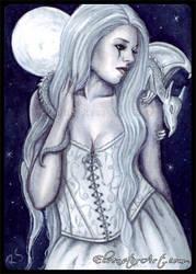 ACEO -- Moonlit Companions by ElvenstarArt