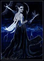 Queen of the Dark Hunt by ElvenstarArt
