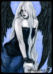 ACEO -- Sapphire Angel by ElvenstarArt