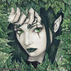 Fairy of the Dark Forest by ElvenstarArt
