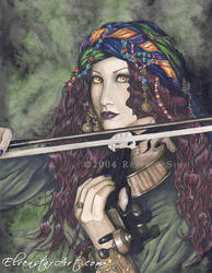 Enchanted Melodies: Violin by ElvenstarArt
