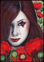 ACEO -- Opium Poppy by ElvenstarArt