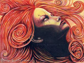 Goddess of the Flame by ElvenstarArt