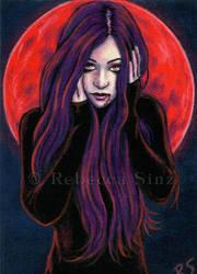 Blood Moon by ElvenstarArt