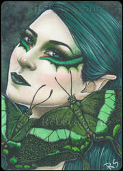 ACEO -- Green Swallowtail by ElvenstarArt