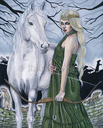 Pestilence -- Four Horse(wo)men of the Apocalypse by ElvenstarArt