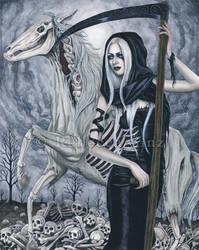Death -- Four Horse(wo)men of the Apocalypse by ElvenstarArt