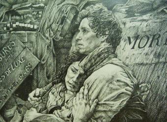 Eponine and Marius by AlexndraMirica