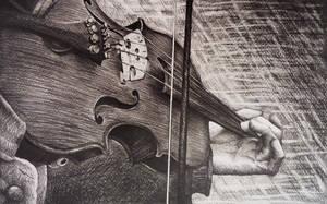Violin sketch by AlexndraMirica