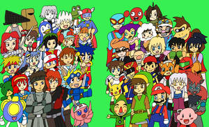 Konami vs Nintendo by jigglysama