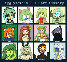 Art Summary 2018 by jigglysama