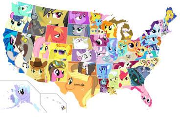 The United Ponies of America by Otaku-kun9