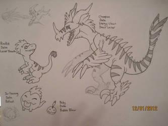 Dinosaur Digimon by petthetoast