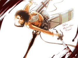Attack on TITAN : Mikasa  Warm color by Realize2Heart