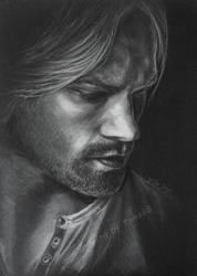 Sam Winchester light against dark by TomsGG