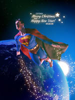 Superman on Christmas by Artejaol