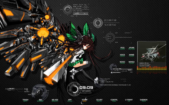 Reiji Utsuho theme for win 7 by EasyModeDX