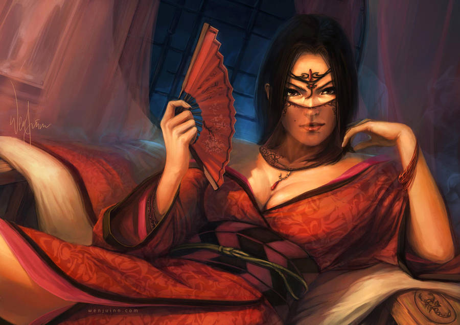 L5R - Campagne Ronal L5r___scorpion_courtier_by_poibuts_d5fqyf0-fullview