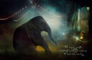 The Lonely Elephant by Phatpuppyart-Studios