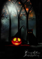 Pumpkin in My Window by Phatpuppyart-Studios