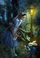 You're Late, Alice by Phatpuppyart-Studios