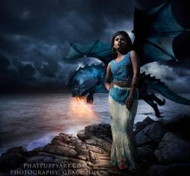 Dragon Flight by Phatpuppyart-Studios