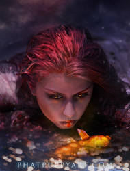 The Mermaid by Phatpuppyart-Studios