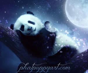 Lullaby Baby by Phatpuppyart-Studios