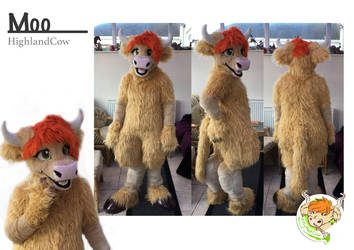 Moo (highland cow Personal Mascot) by ArtyMadCow