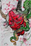 Rage of the Oni Samurai Demon by Khov97