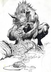 Lycanthrope 13-Inktober by Khov97