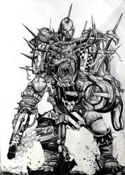 Ork Rocket of Mechanical Arm by Khov97