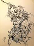 Sword maiden knight by Khov97