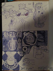 THE SECOND PAGE OF MY SKETCHBOOK IS DONE. I think. by Alberthein1