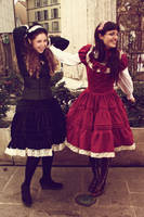 Black and Red Lolita by NocturneGothicLolita