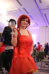 Final Fantasy - Bomb Cocktail Dress by Midnight-Dance-Angel