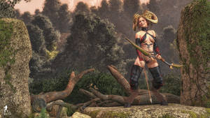 Hunting faun by Nihil-Novi-Sub-Sole