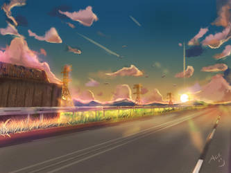 Sunset by the H-WAY by ACEVelasquez
