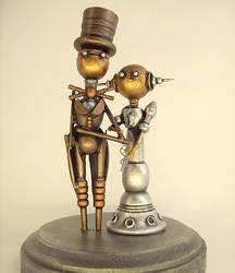 Steampunk Robot Wedding Cake T by buildersstudio