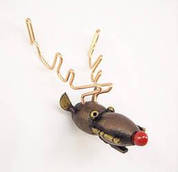 Rudolph Robot Reindeer Wood by buildersstudio