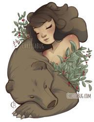 Goddess of the Bear and Healing by ChrissaBug