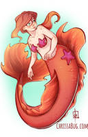 Mermaid Pomegranate by ChrissaBug