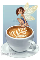 caffe latte by ChrissaBug