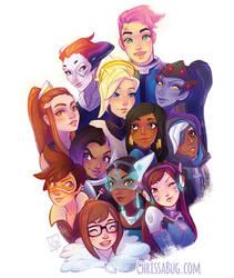 Overwatch Girls by ChrissaBug
