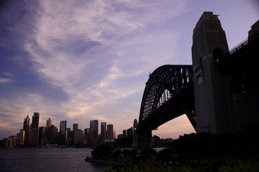 Sydney bridge at dusk by davox1