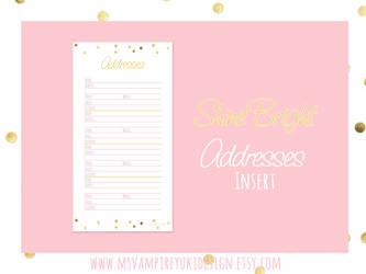 Personal Addresses Insert - Shine Bright by MsVampireYuki