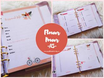 A5 Printable Planner - Flower Power by MsVampireYuki