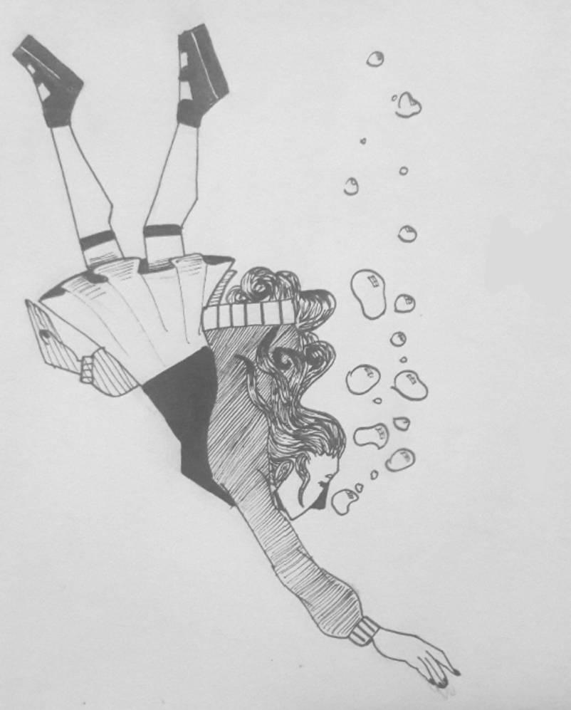 Inktober #20 - Deep by TheSpiciestRamen
