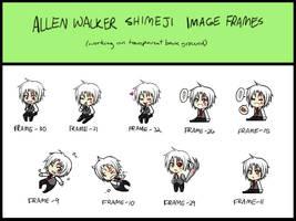 Allen Walker shimeji WIP by silvererros