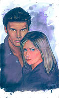Buffy and Angel by ssava